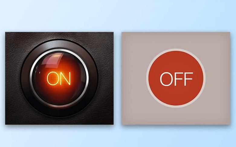 skeumorphism vs. flat design image