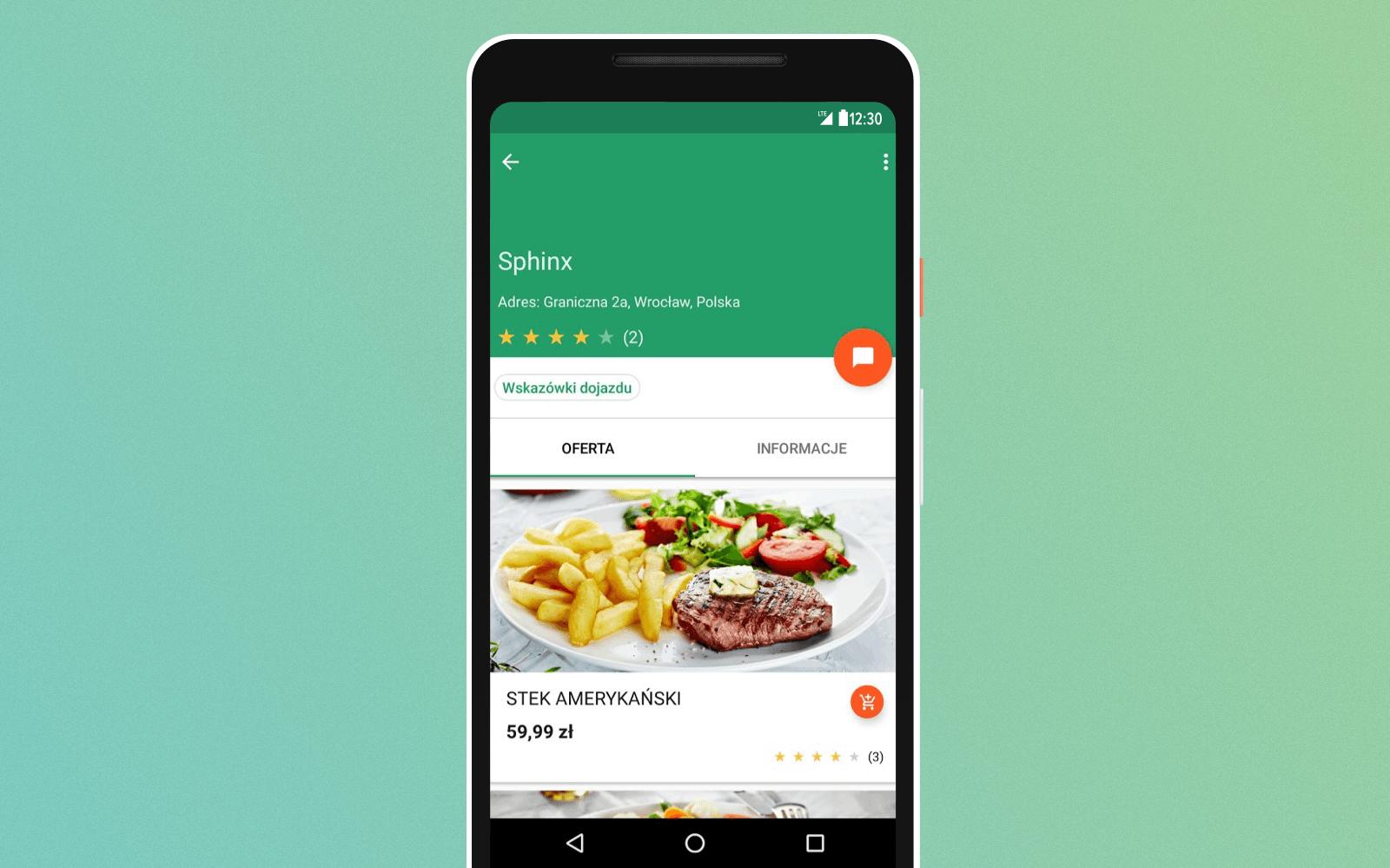 oMap.pl food ordering