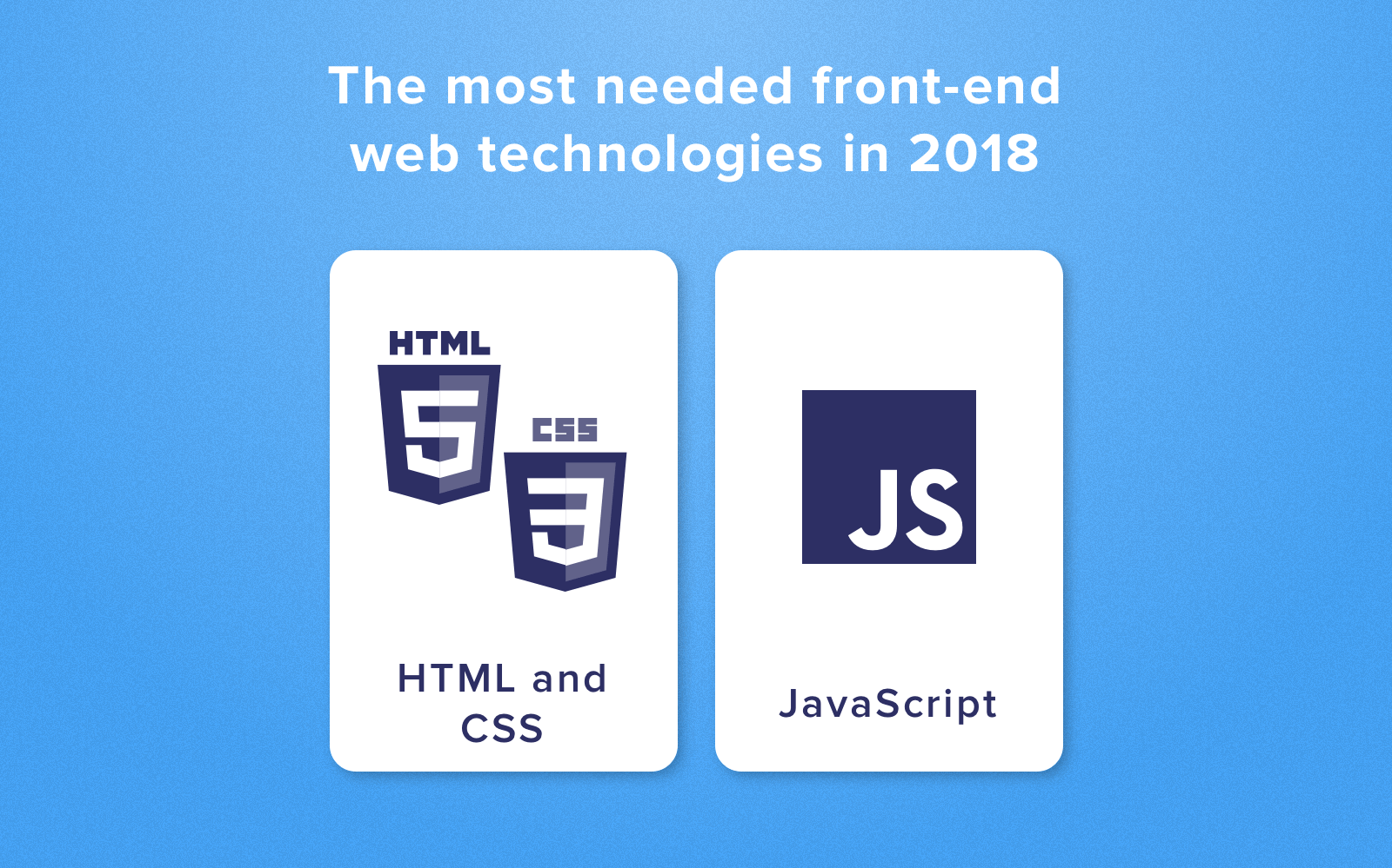 front end coding languages in 2018