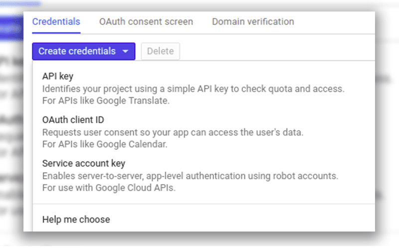google cloud sql create credentials