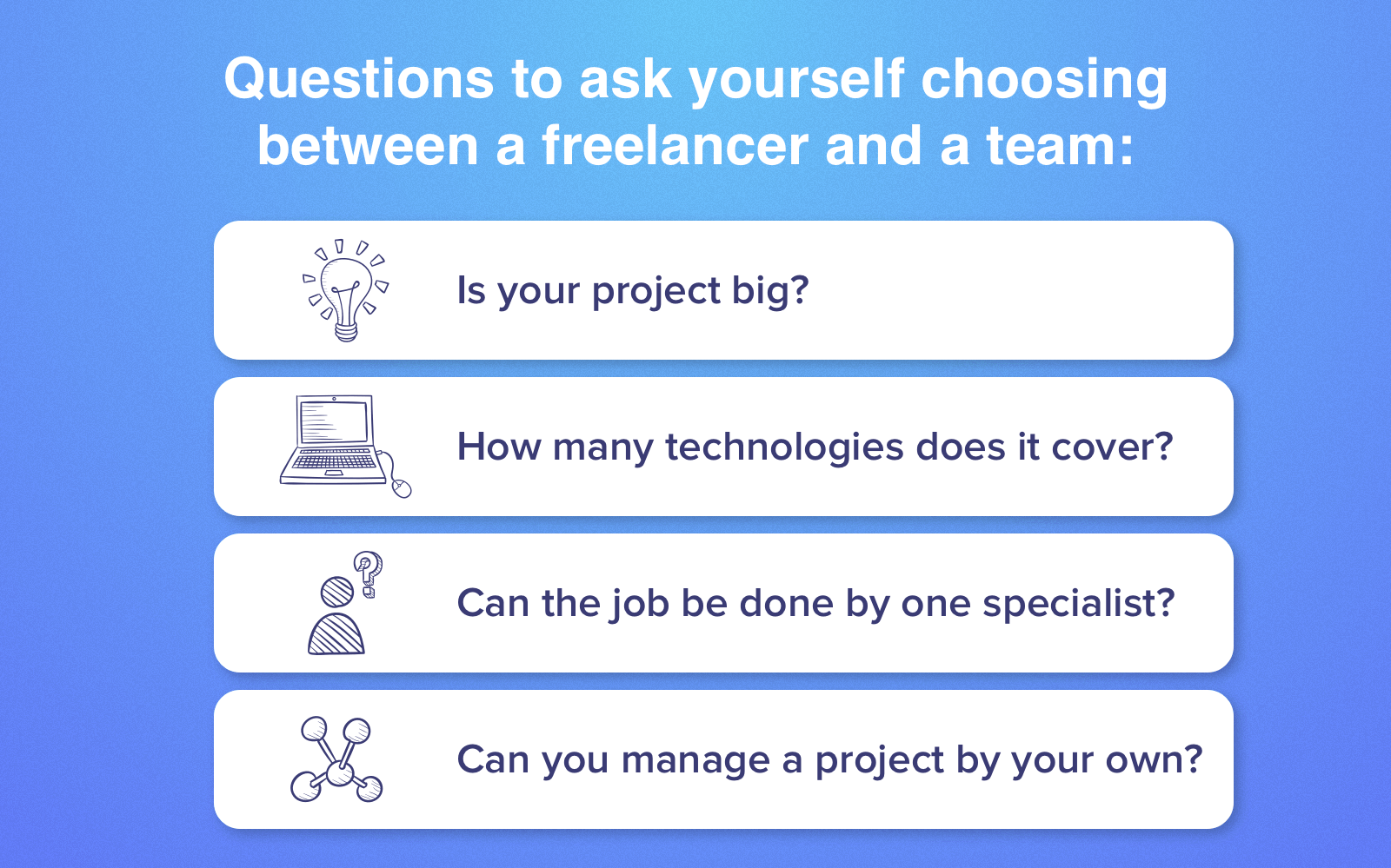 freelancer vs software development firm