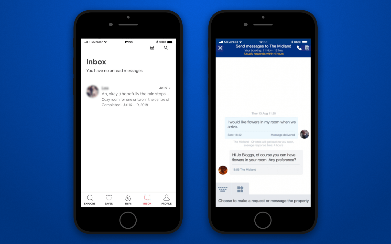Developing a hotel booking app with built-in messenger