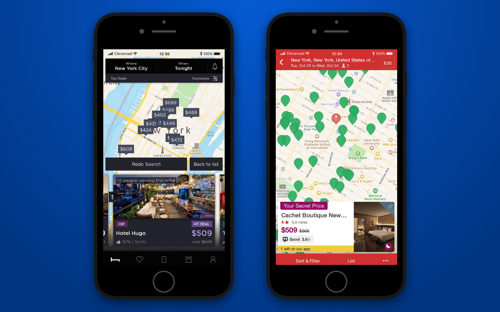 How to make a booking app with great visualization