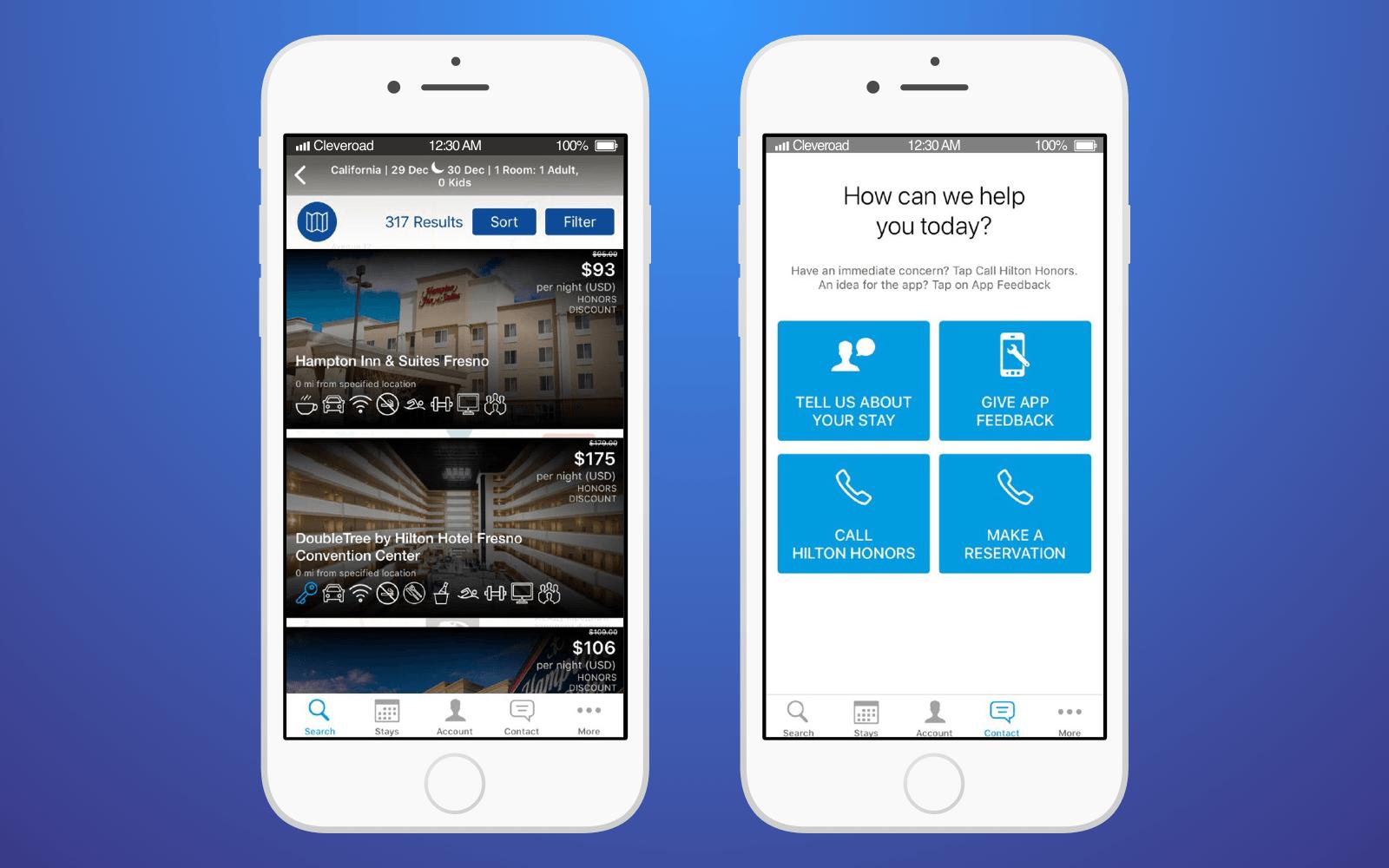 Hotel innovation: Hilton Honor app