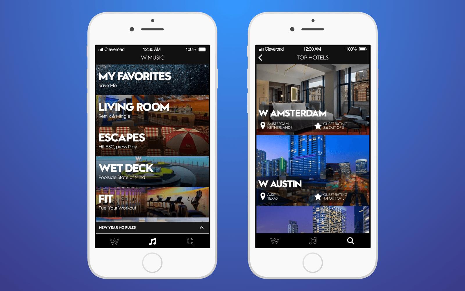 Hotel innovation: W Hotels Worldwide app