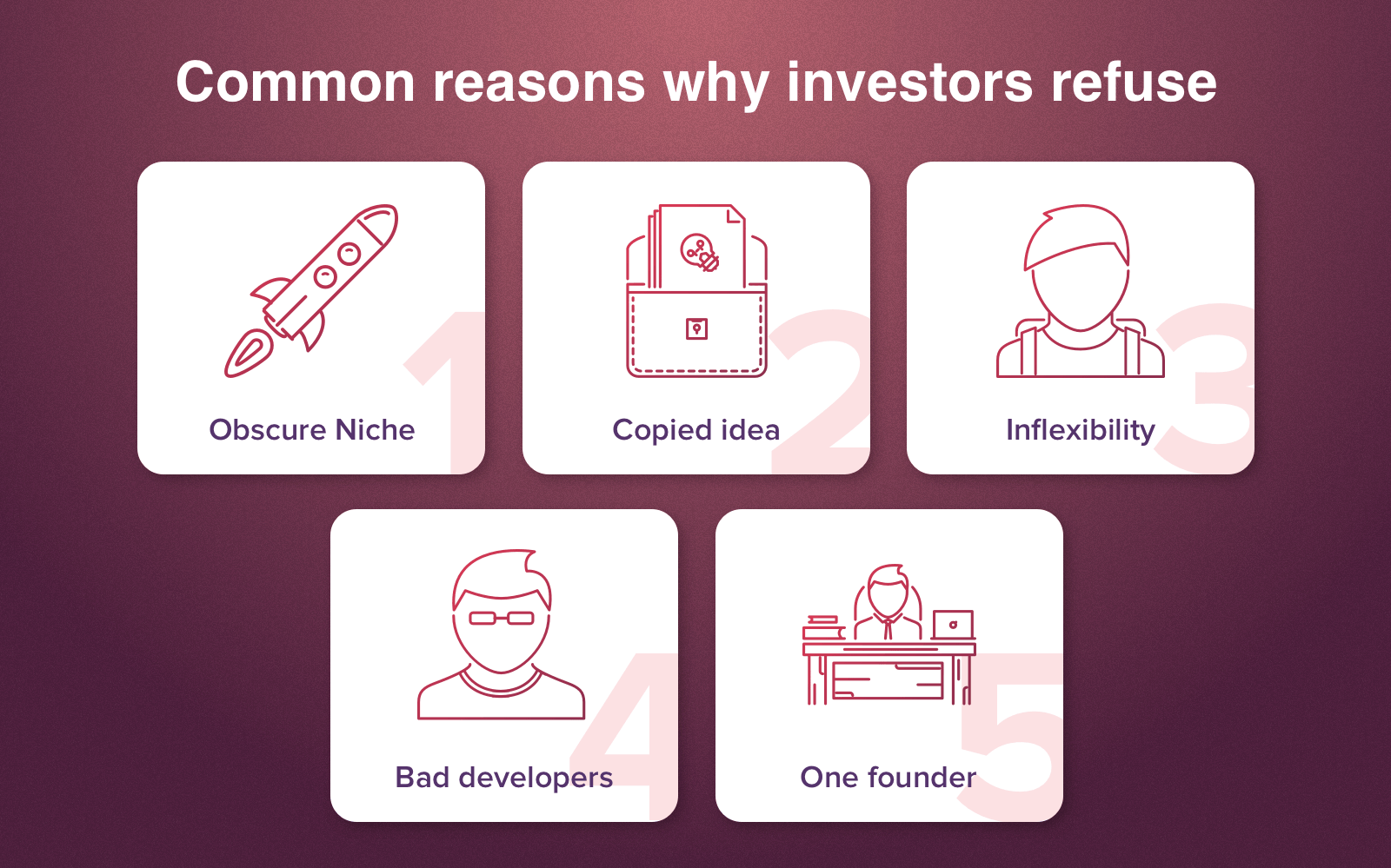 how to get investors - common mistakes