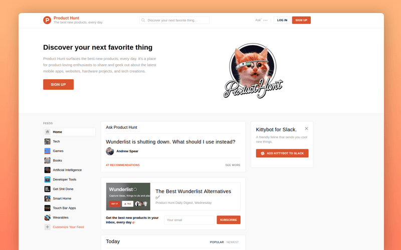 promote an app on ProductHunt