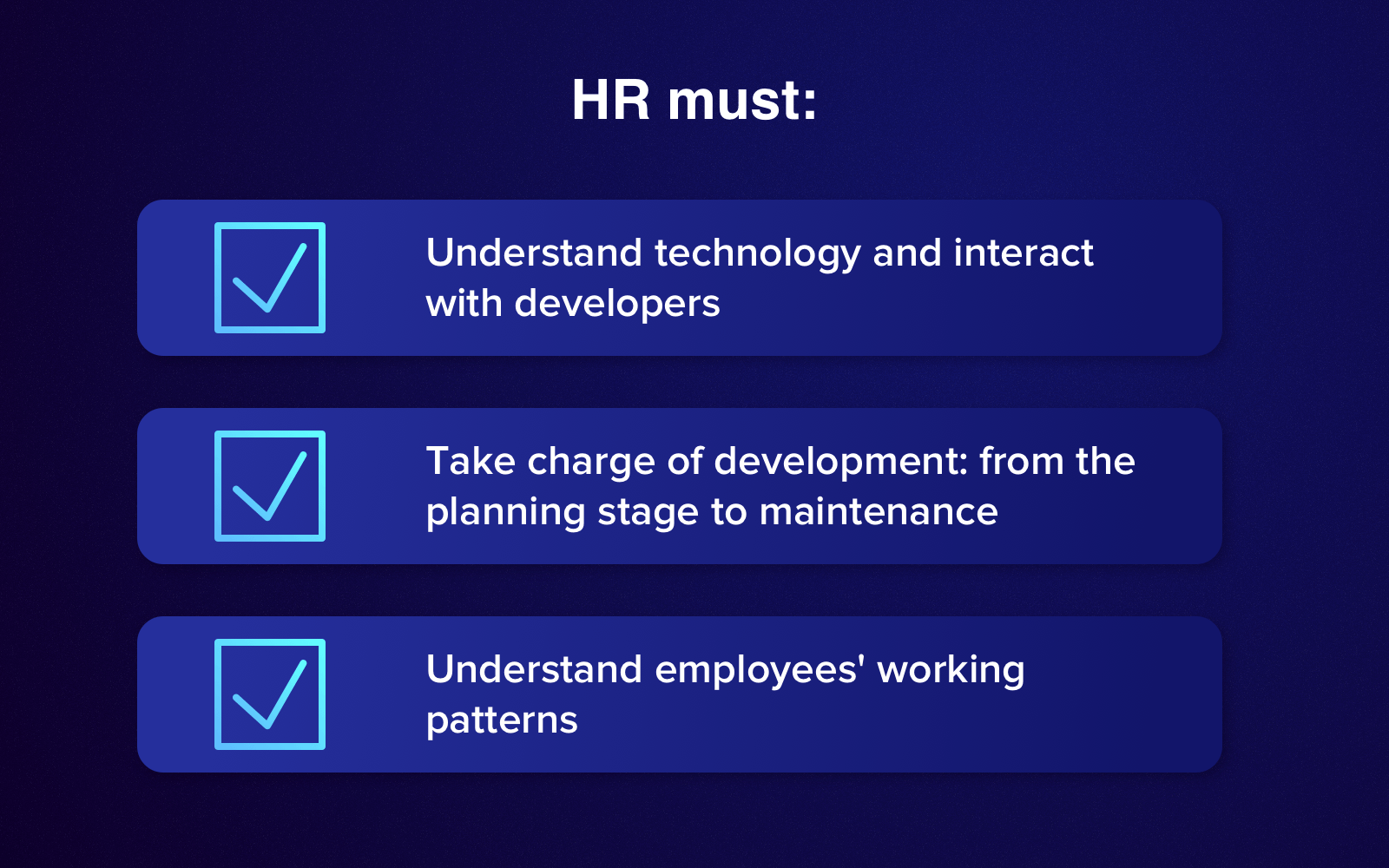 Responsibilities of your HR staff during HR software development