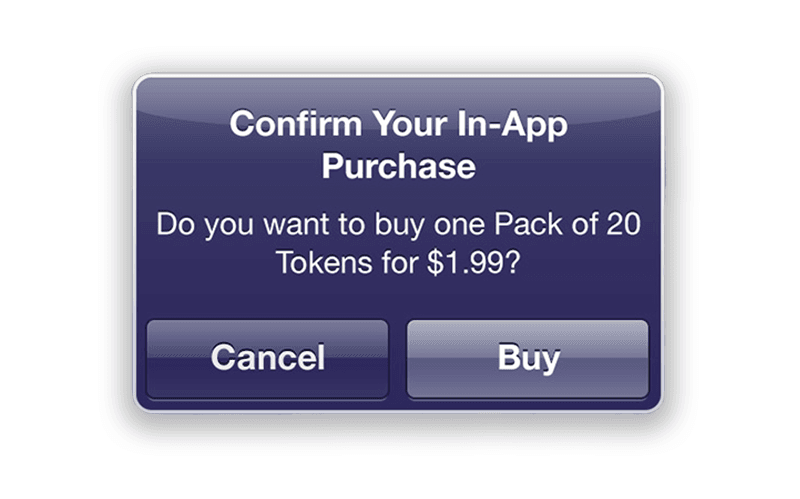 iOS in app purchase