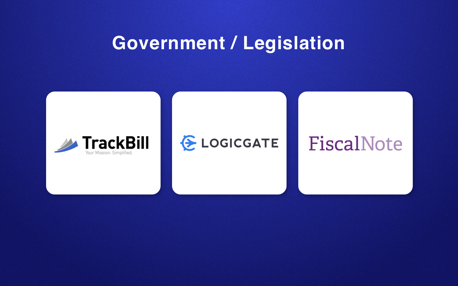 RegTech companies in government/legislation field