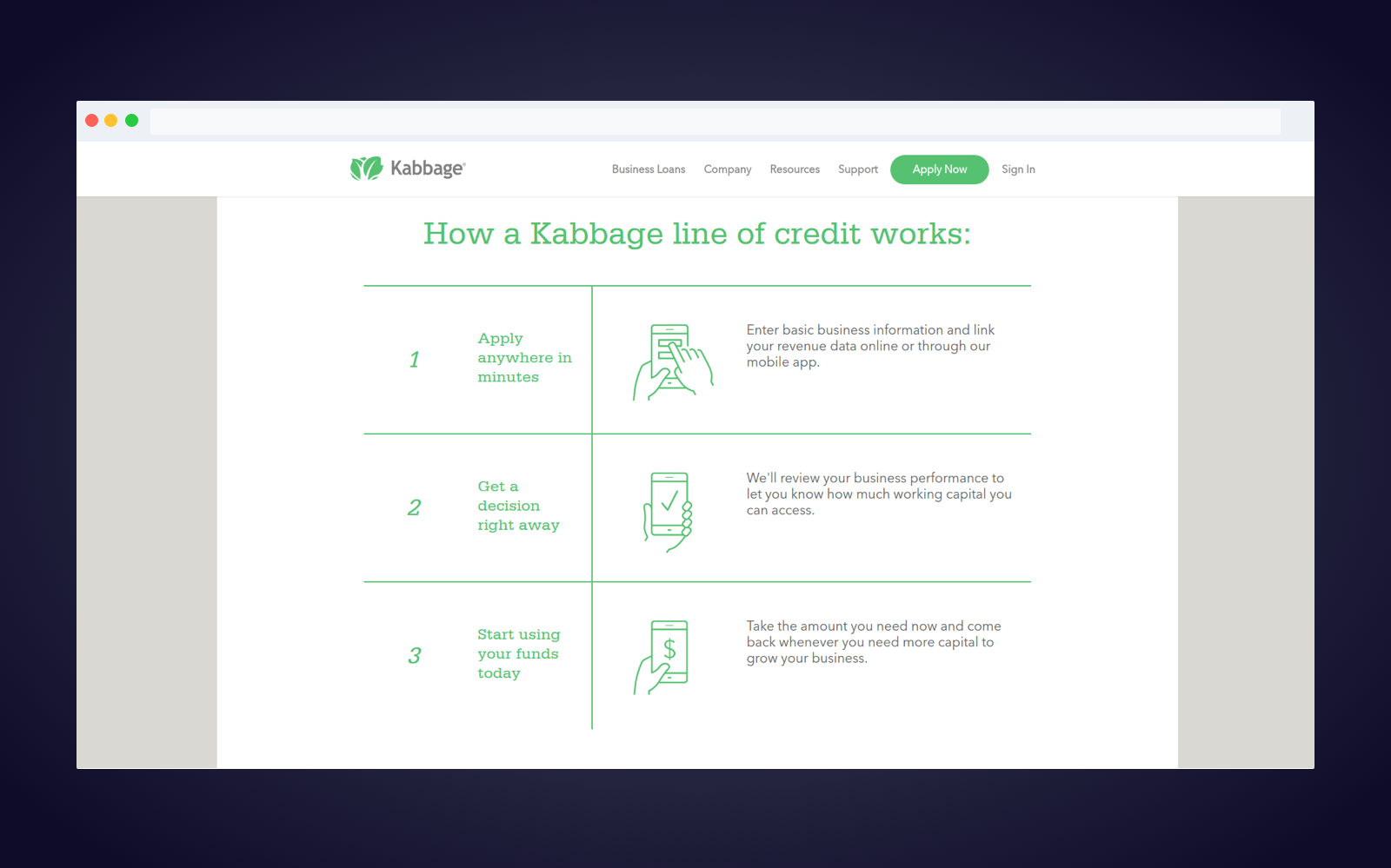 Kabbage P2P software