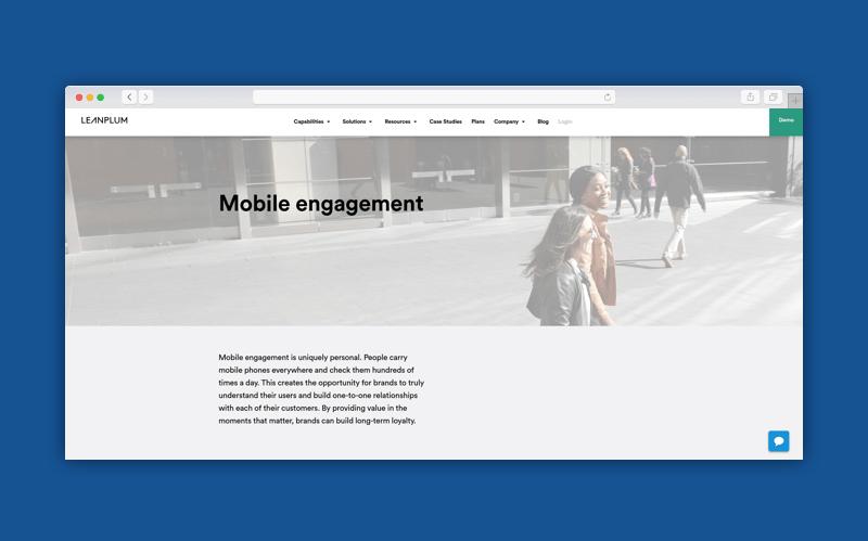 mobile customer engagement platform