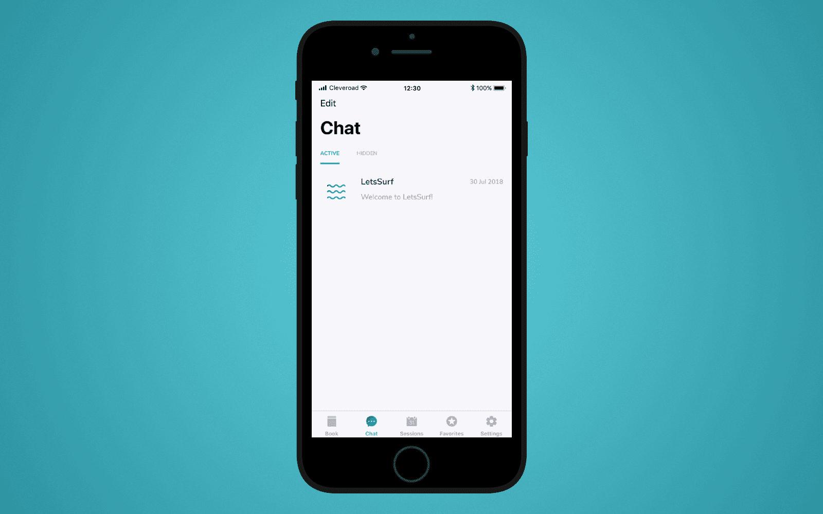 LetsSurf chat screen