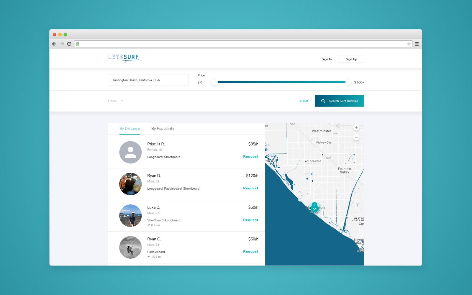Web bersion of LetsSurf