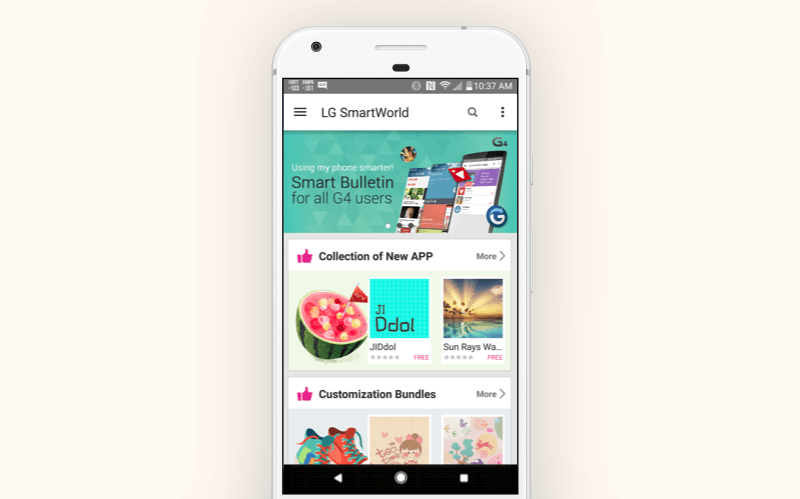 Alternative Google Play store: LG SmartWorld