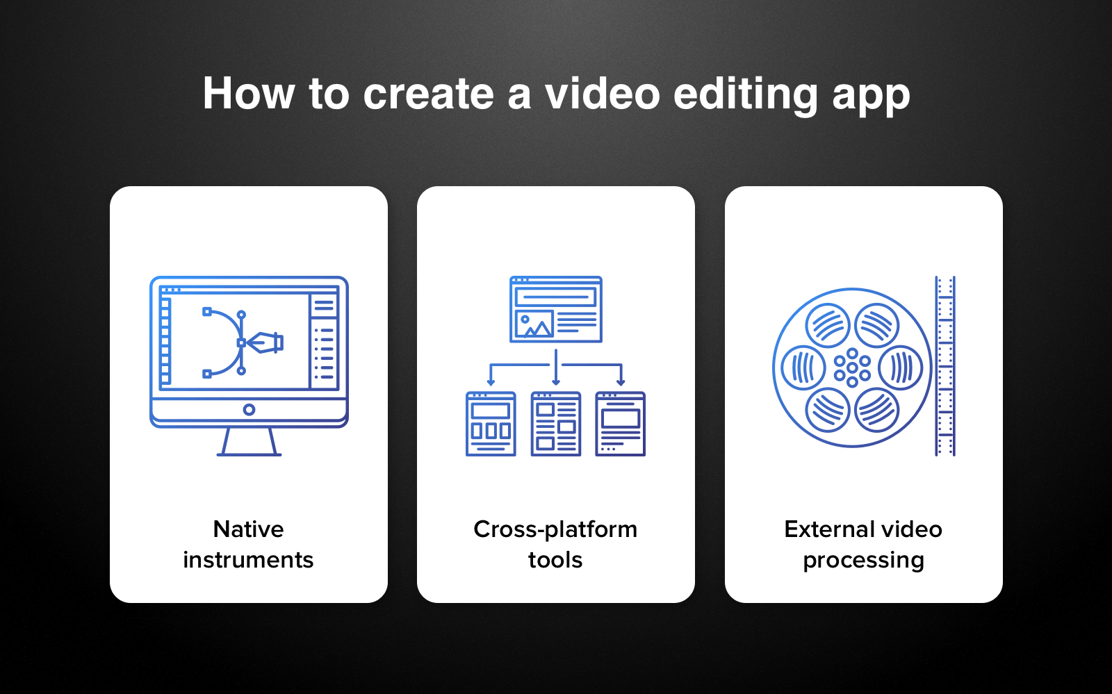 best professional video editor - development options
