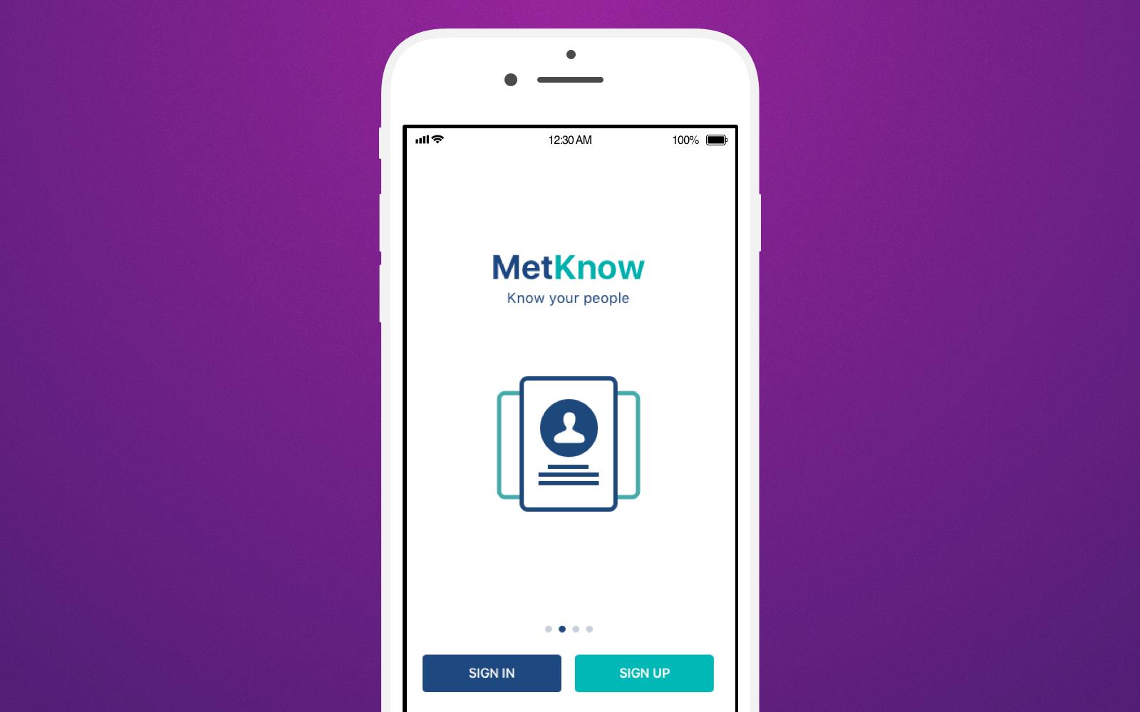 MetKnow app page