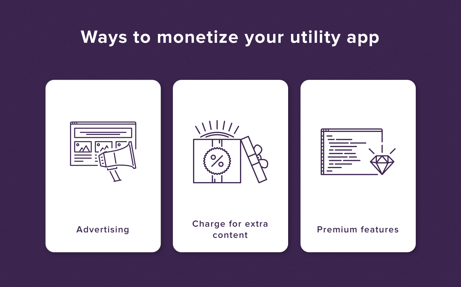 Utility app monetization
