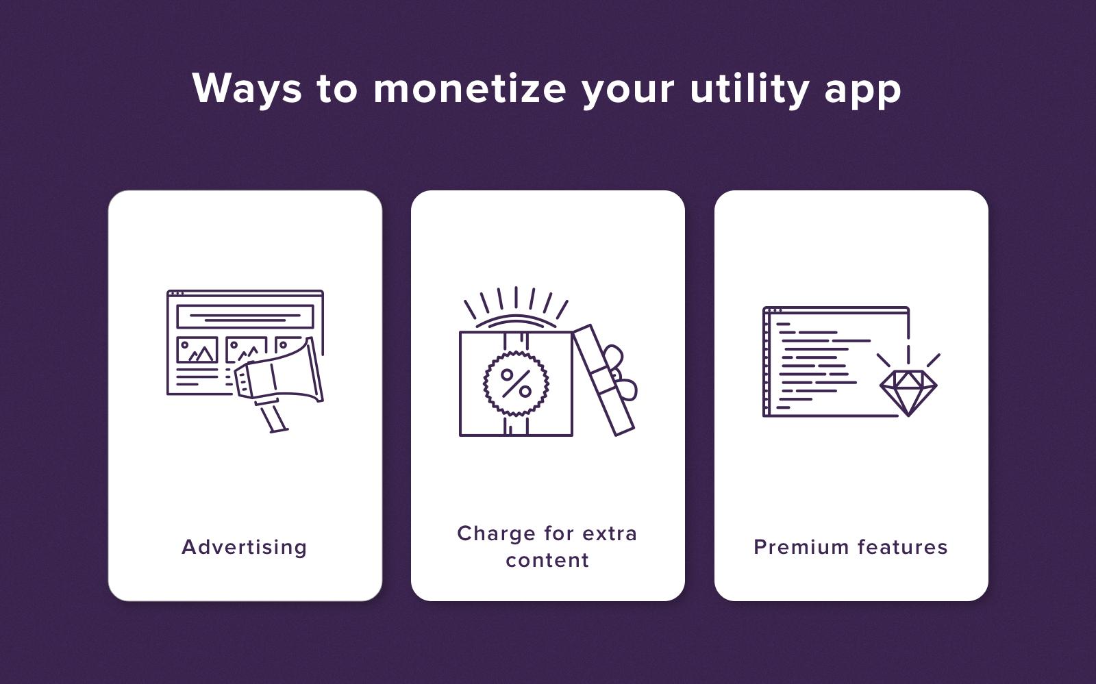 Utility app monetization