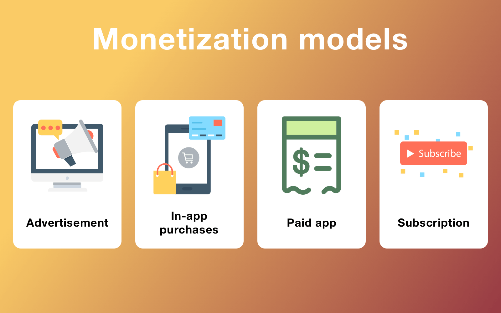 Monetization models that are popular for messaging apps