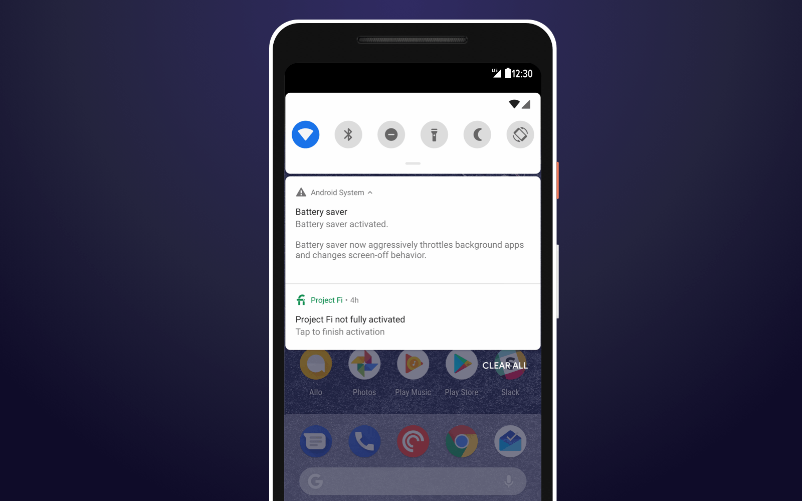 Android P Notification shade