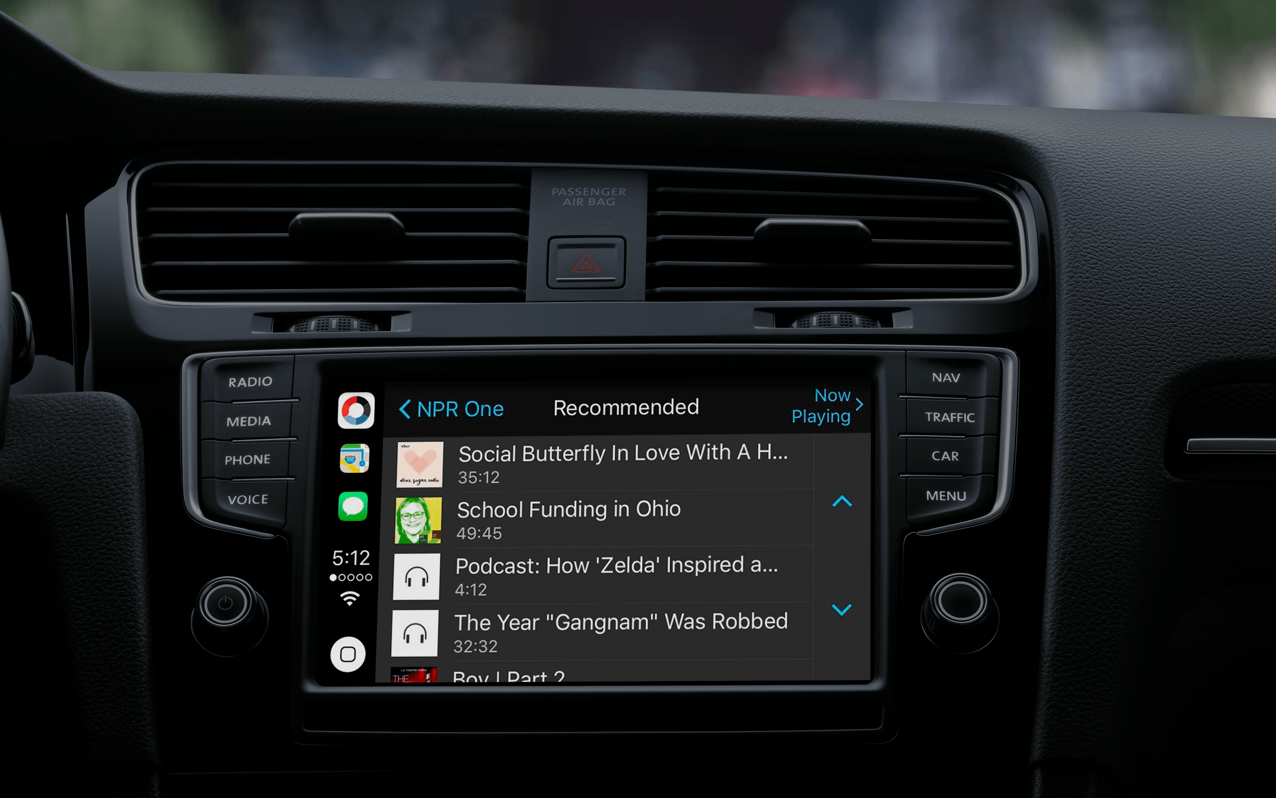 Apps supported by apple CarPlay: NRP One