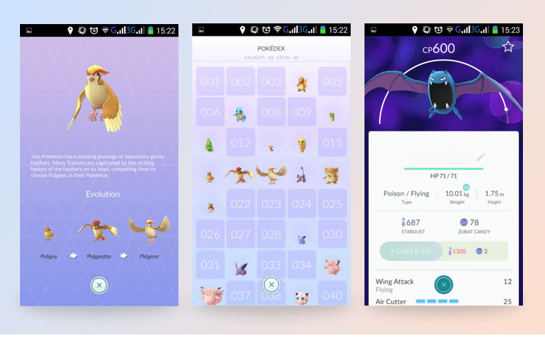 Pokemon Go app: Pokemon levels
