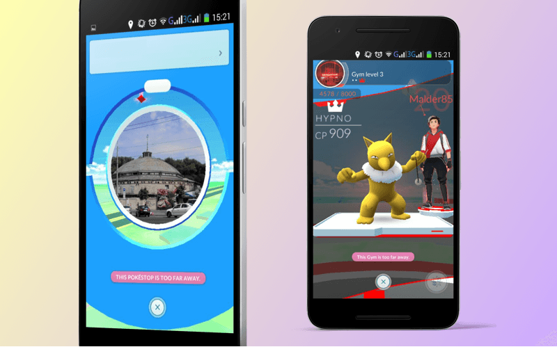 PokeStop and Gym in Pokemon Go app