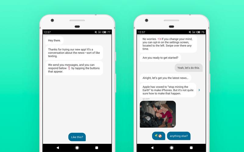 Quartz app interface