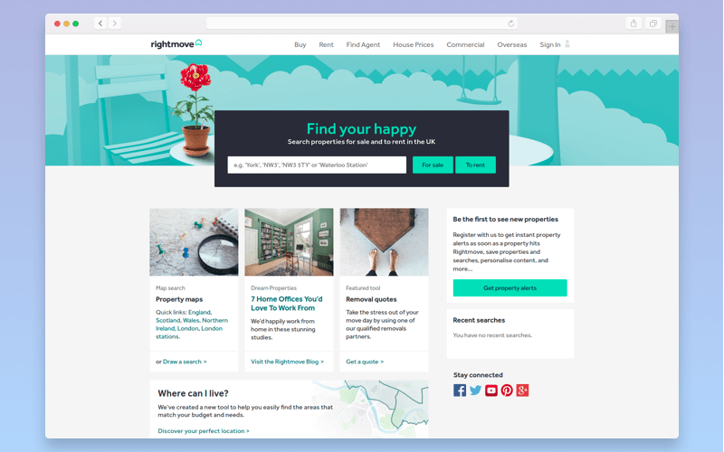 Real estate platform: Rightmove