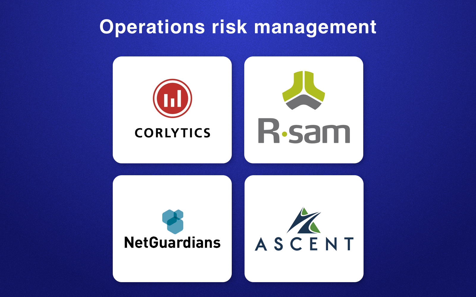 RegTech companies in operations risk management field