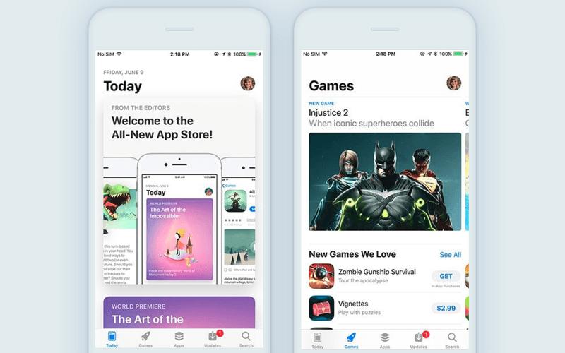 App Store iOS 11 redesign