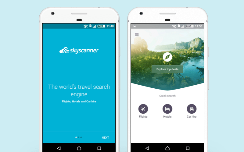 best app for car rental skyscanner