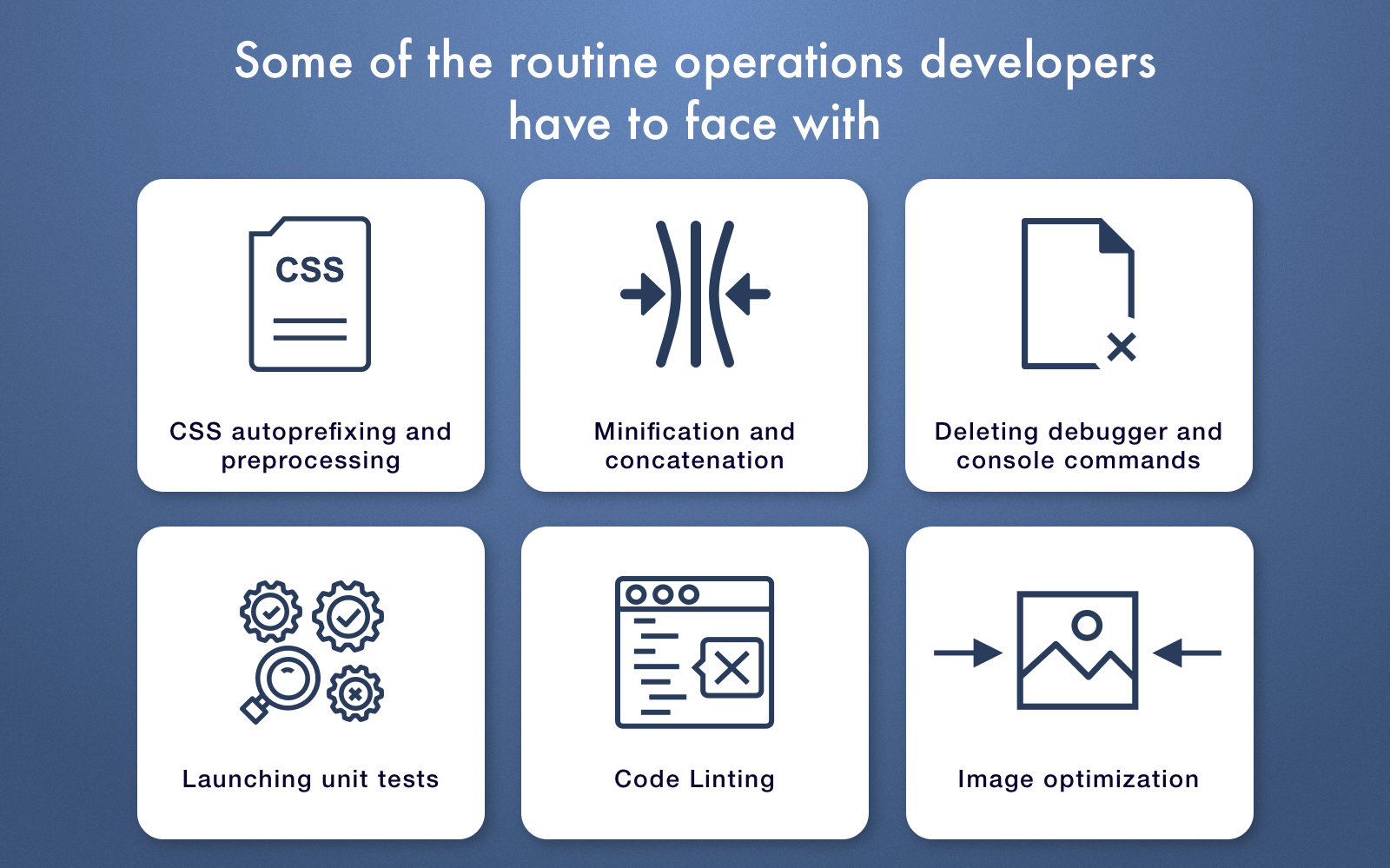 routine developers' operations