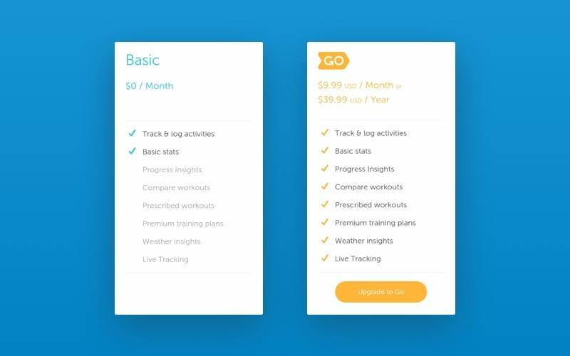 Runkeeper app features