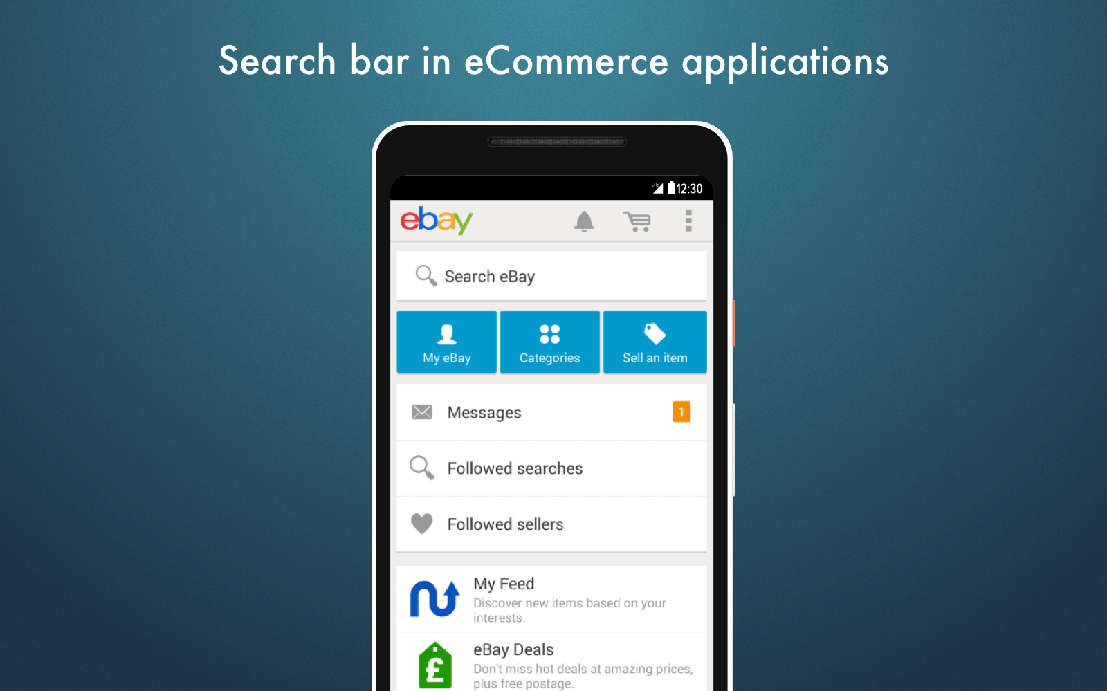 Ecommerce mobile tips: Search bar