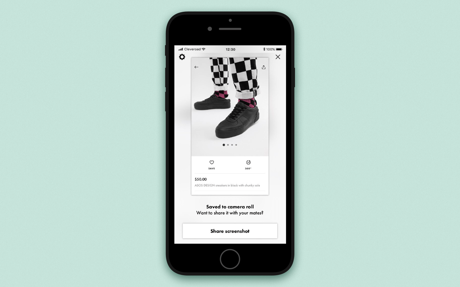 Make a shopping app with sharing options