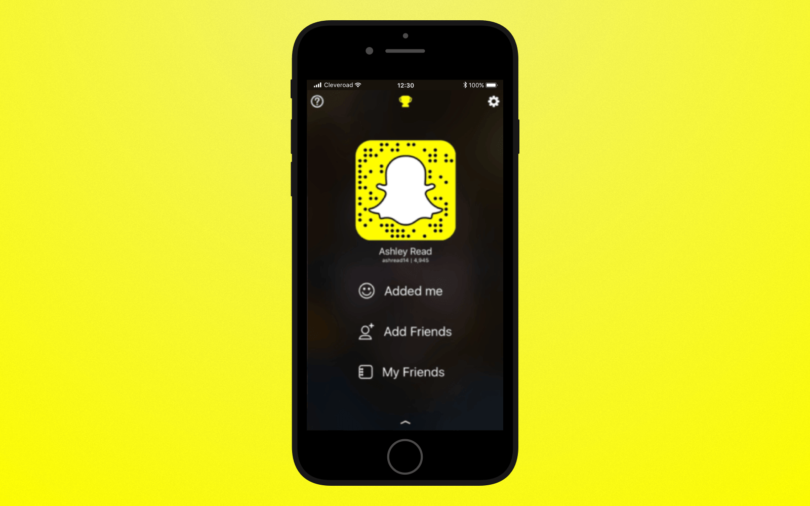 Create add a friend  feature to build an app like Snapchat