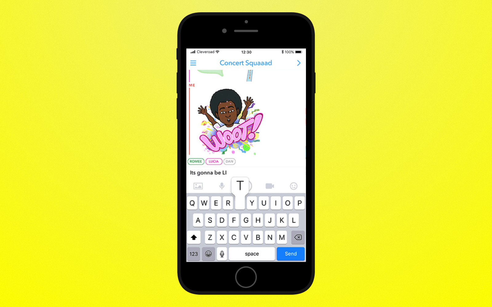 Add chatting feature to create an app like Snapchat