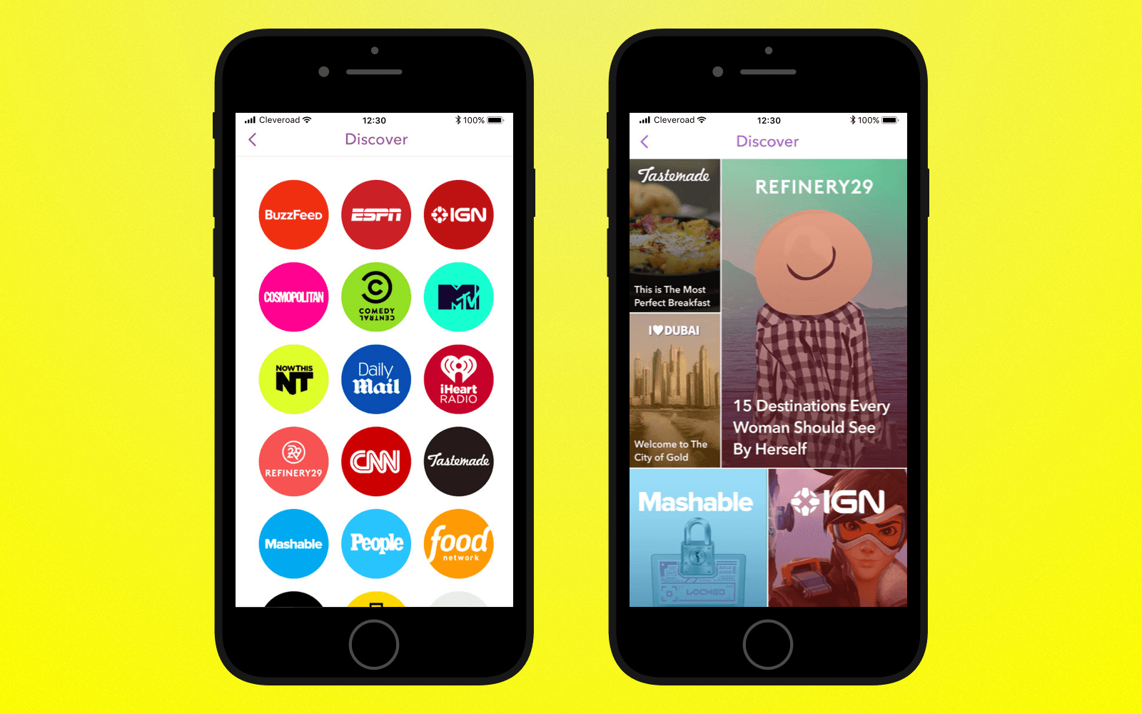 Add discover feature to create an app like Snapchat