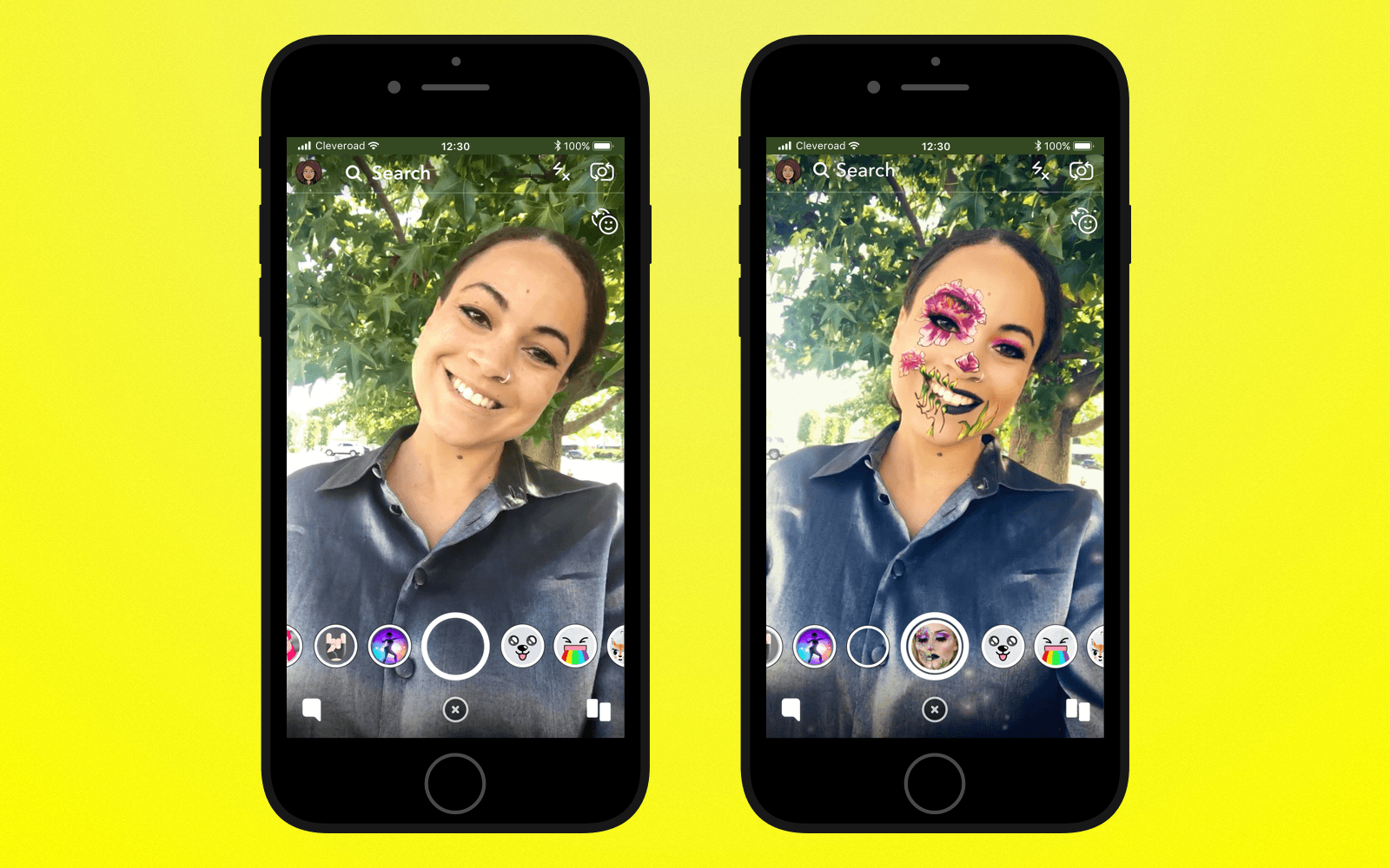 Add lenses feature to create an app like Snapchat