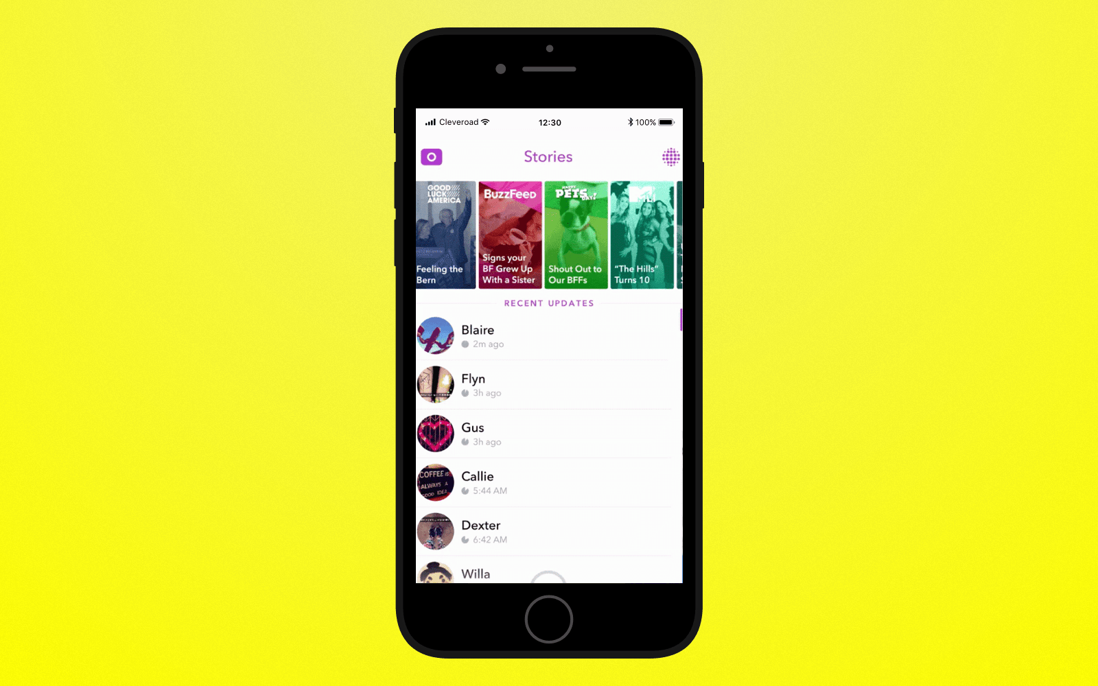 Add story feature to create an app like Snapchat