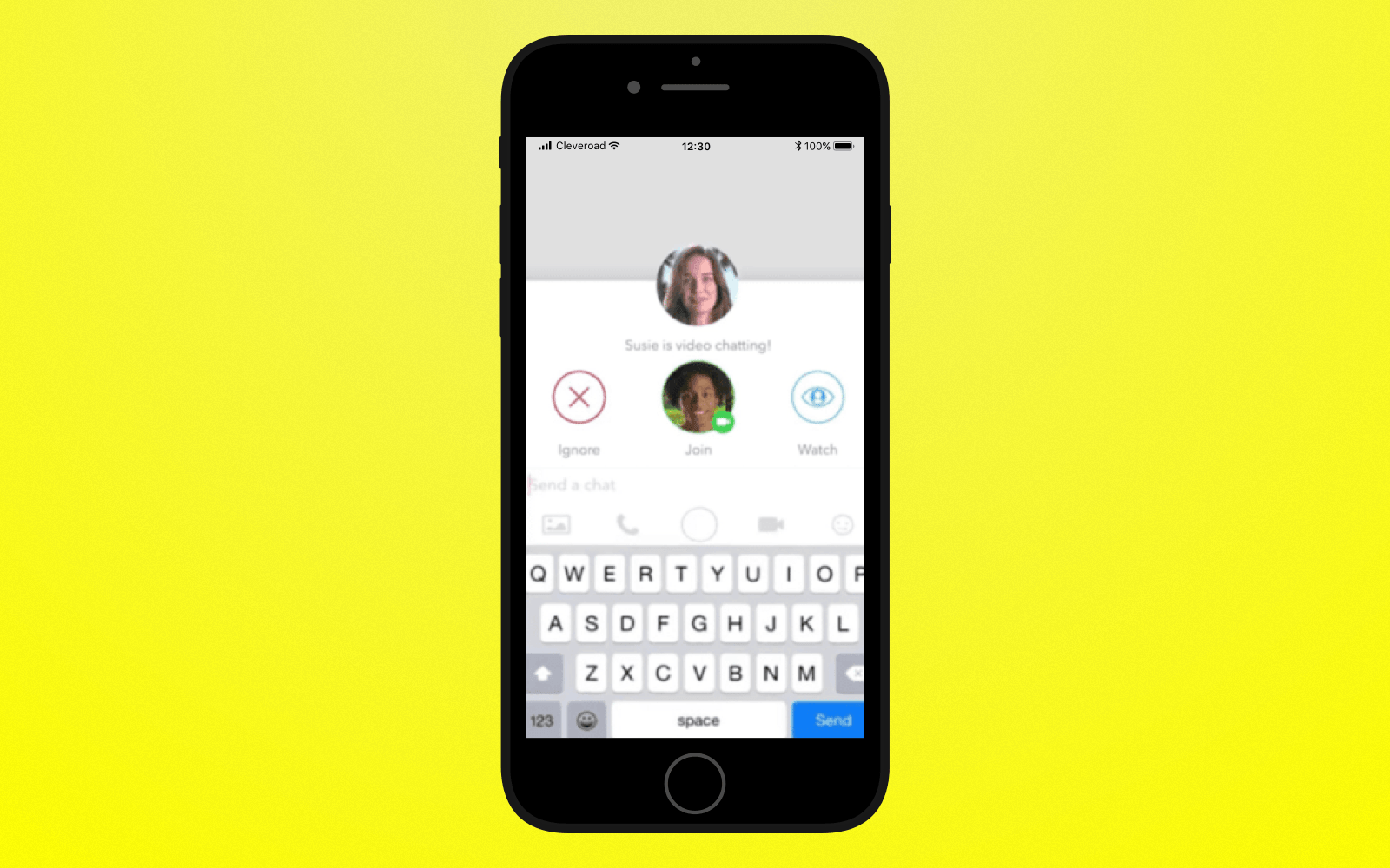 Add video and audio calls to create an app like Snapchat
