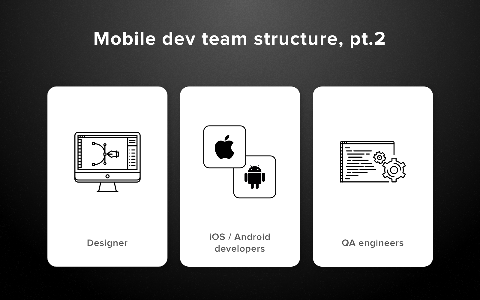 how to structure a software development team