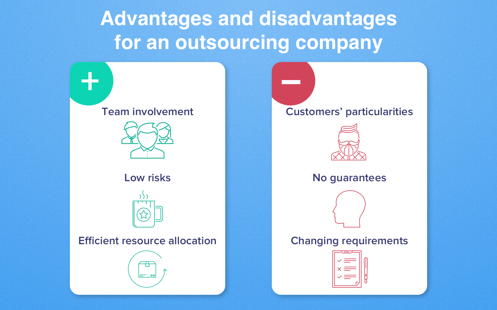 advantages and disadvantages for a company
