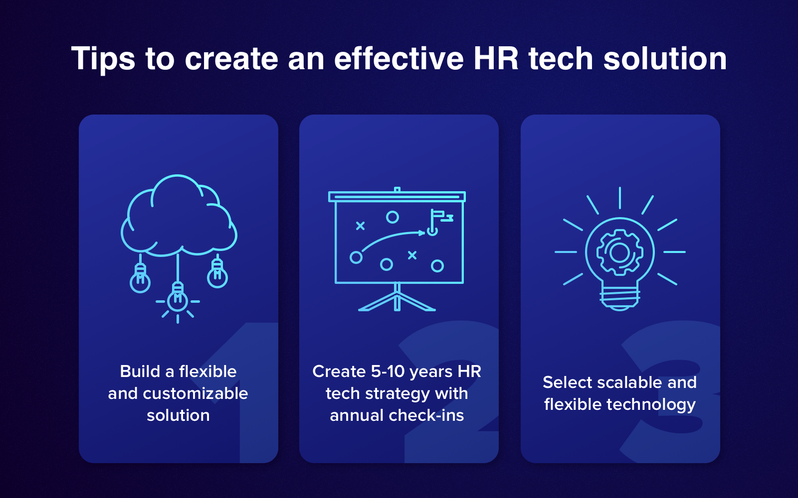 Drafting HR technology strategy: Final tips