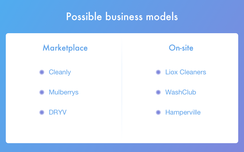 Business models for laundry app development
