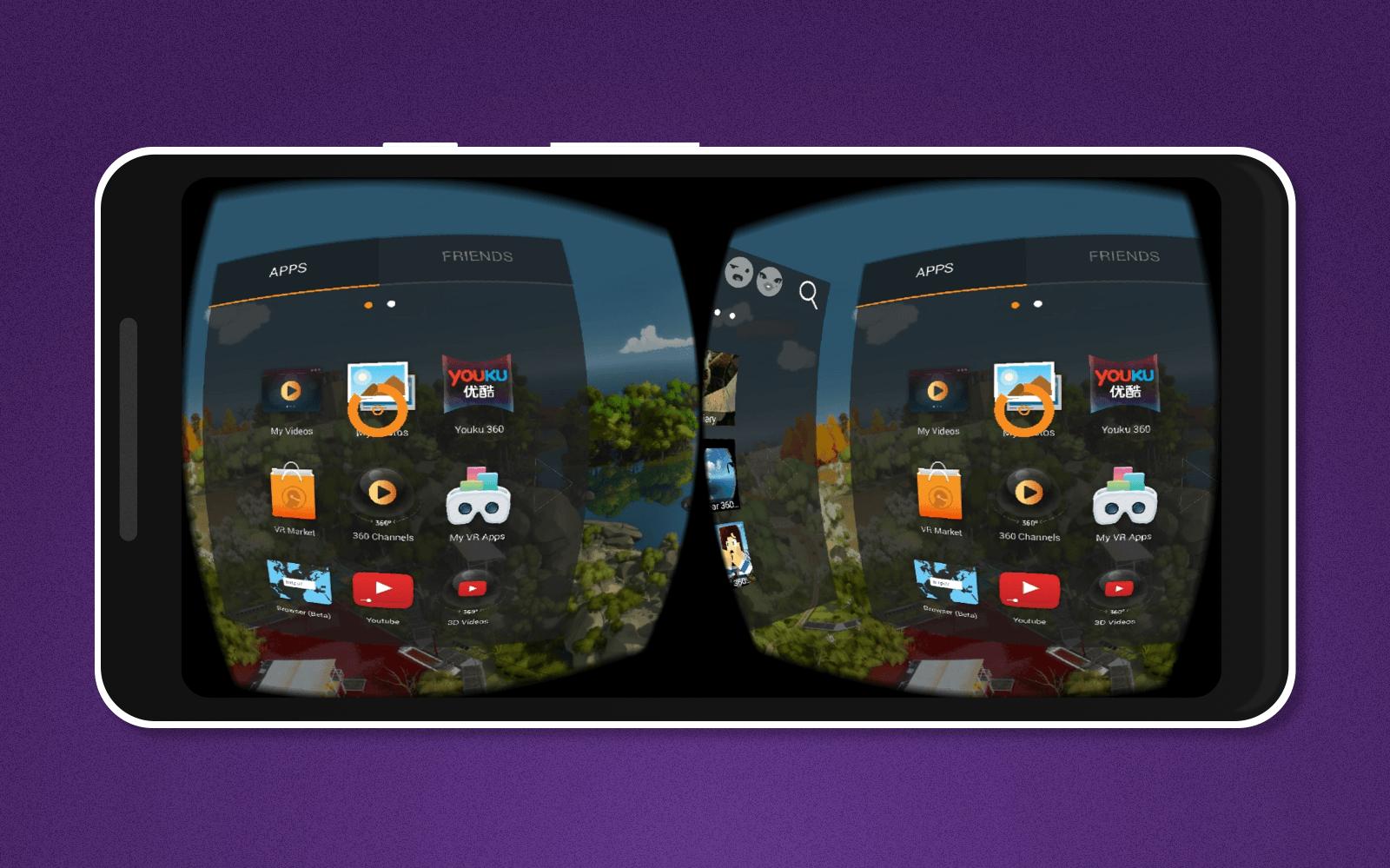 3d vr glasses app