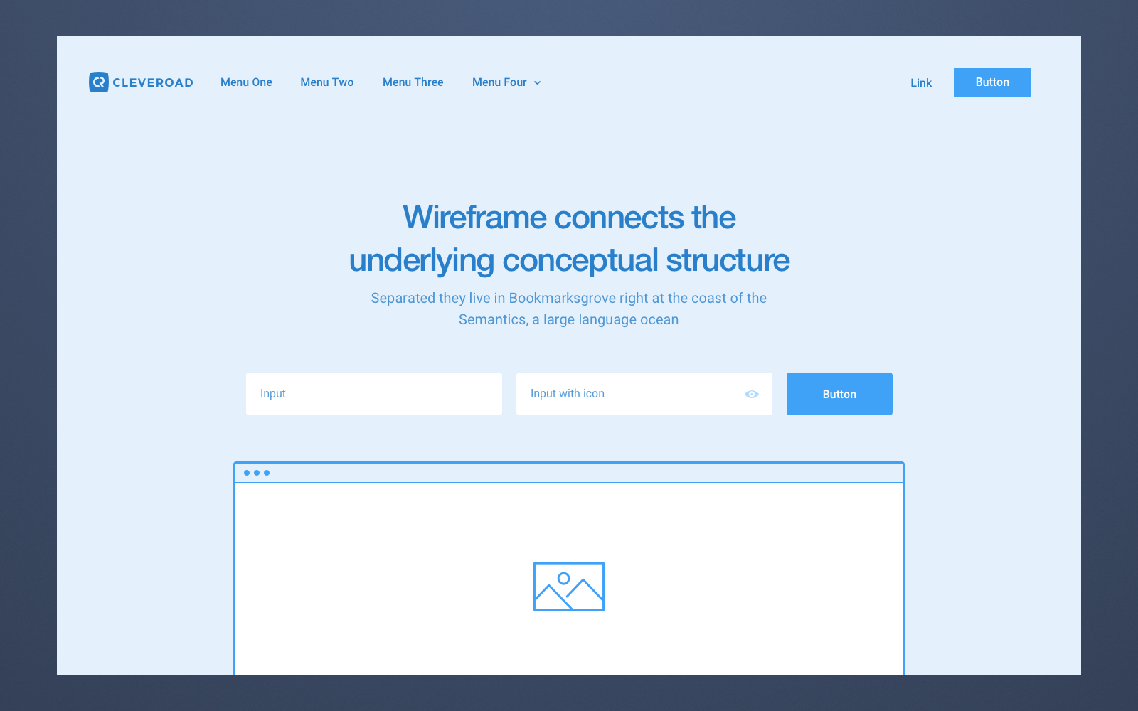 An example of a website wireframe