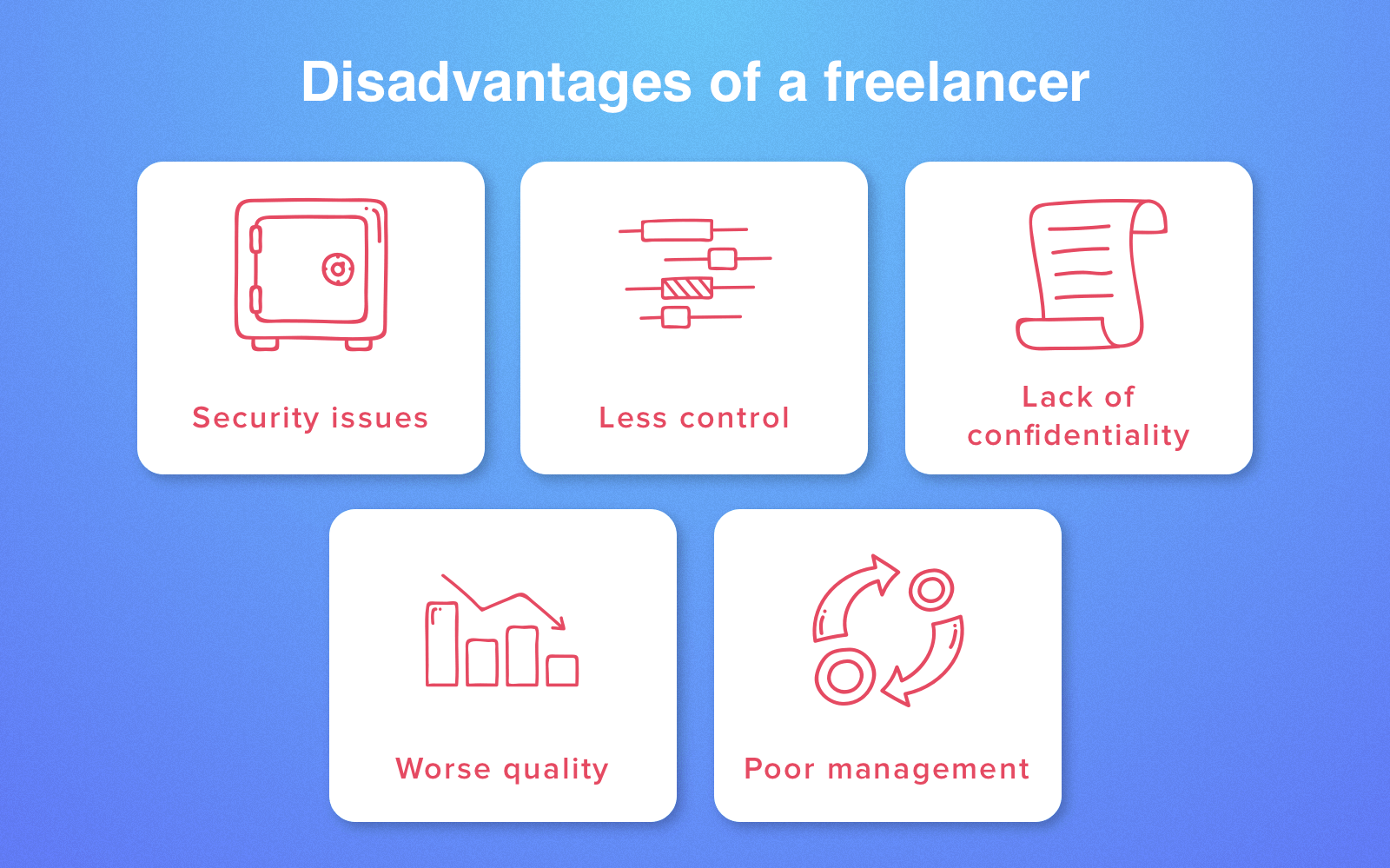 hire freelancers - disadvantages